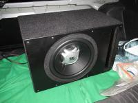 Установка сабвуфера JBL GT5-12 vented box в Ford Fiesta VII