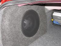 Установка сабвуфера JBL GT5-10 в Mitsubishi Lancer X