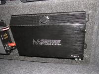 Установка усилителя Audio System M 80.4 в Mitsubishi Lancer X