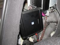 Установка усилителя Alpine MRV-M500 в Audi Q5