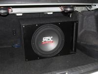 Установка сабвуфера MTX RT12-04 vented box в Toyota Corolla X