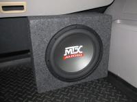 Установка сабвуфера MTX RT12-04 box в Mitsubishi Pajero Sport
