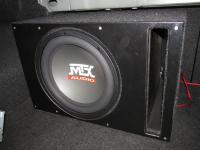Установка сабвуфера MTX RT12-04 vented box в Mazda 6 (II)