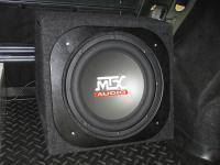 Установка сабвуфера MTX RT12-04 box в Renault Logan
