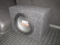 Установка сабвуфера MTX RT10-04 box в Hyundai Santa Fe (II)