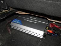 Установка усилителя Art Sound XE 754 в Mitsubishi Lancer X