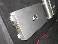 Установка усилителя Kicx QS 1.600 в Datsun On-Do