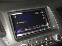 Фотография установки магнитолы Pioneer AVH-X8800BT в Honda Civic 4D
