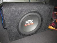 Установка сабвуфера MTX RT12-04 vented box в Nissan Primera P12