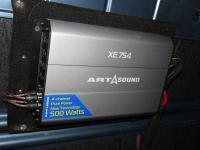 Установка усилителя Art Sound XE 754 в Renault Logan 2
