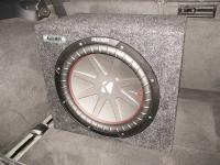 Установка сабвуфера Kicker 43CWR122 box в Audi A6 (C7)