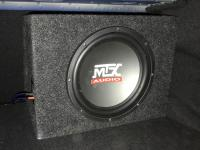 Установка сабвуфера MTX RT10-04 box в Jaguar XE