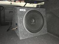 Установка сабвуфера Helix K 12W box в Volvo S90