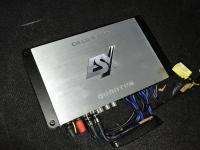 Установка усилителя ESX QE80.6DSP в Mitsubishi Pajero Sport