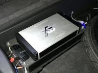 Установка усилителя ESX QE80.6DSP в Audi Q7 II (4M)