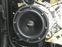 Установка акустики Eton POW 200.2 Compression в Volkswagen Touareg III