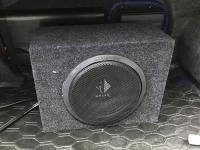 Установка сабвуфера Helix K 10W box в Mitsubishi Lancer Evolution