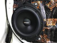 Установка акустики Eton POW 200.2 Compression в Toyota Highlander