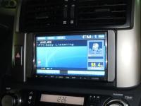 Фотография установки магнитолы Alpine IVA-W520R в Toyota Land Cruiser 150