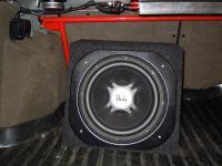 Установка сабвуфера JBL GT5-12 box в Lada Kalina