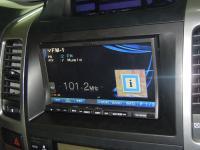 Фотография установки магнитолы Alpine INA-W910R в Toyota Land Cruiser 120
