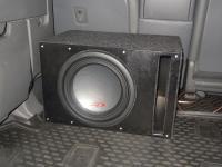 Установка сабвуфера Alpine SWR-1023D в Toyota Land Cruiser 200