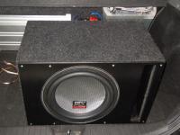 Установка сабвуфера MTX T612-22 vented box в Chevrolet Lacetti