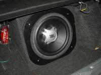 Установка сабвуфера JBL GT5-12 box в Lada 2114