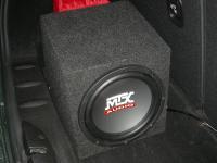 Установка сабвуфера MTX RT10-04 box в Mini Cooper