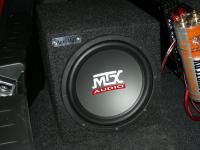 Установка сабвуфера MTX RT10-04 box в Suzuki Swift