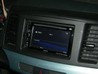 Фотография установки магнитолы Sony XAV-E60 в Mitsubishi Lancer X
