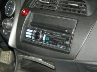 Фотография установки магнитолы Alpine CDA-117Ri в Honda Civic 5D