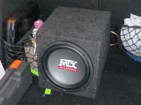 Установка сабвуфера MTX RT10-04 box в Opel Astra H