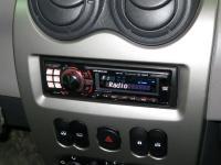 Фотография установки магнитолы Alpine CDE-9880R в Renault Logan