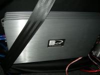 Установка усилителя Kicx QS 1.600 в Mitsubishi Lancer