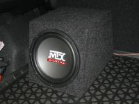 Установка сабвуфера MTX RT10-04 box в Mitsubishi ASX