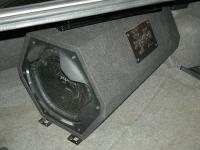 Установка сабвуфера Sony XS-GTX121LT в BMW 3 (E90)