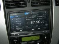 Фотография установки магнитолы Pioneer AppRadio 2 SPH-DA100 в Hyundai Tucson