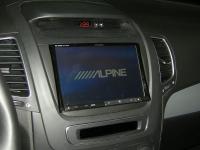 Фотография установки магнитолы Alpine INE-W928R в KIA Sorento II (XM FL)