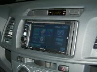 Фотография установки магнитолы Alpine IVE-W530BT в Toyota Hilux