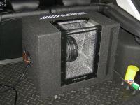 Установка сабвуфера Alpine SBG-1244BP в Ford Focus 3
