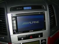 Фотография установки магнитолы Alpine INE-W920R в Hyundai Santa Fe (II)