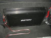 Установка усилителя Eton ECC 500.4 в Nissan Qashqai