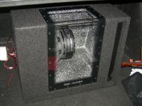 Установка сабвуфера Alpine SBG-1244BP в Hyundai Sonata