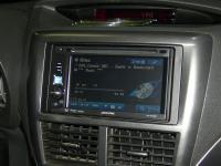 Фотография установки магнитолы Alpine IVE-W530E в Subaru Impreza