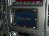 Фотография установки магнитолы Alpine IVE-W535BT в Mitsubishi Pajero IV