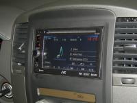 Фотография установки магнитолы JVC KW-AV61BTEE в Nissan Pathfinder