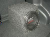 Установка сабвуфера MTX RT10-04 box в KIA Rio III