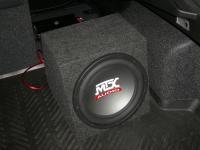 Установка сабвуфера MTX RT12-04 box в Mazda 6 (II)