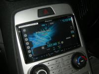 Фотография установки магнитолы Pioneer AVH-X4600DVD в Hyundai Genesis